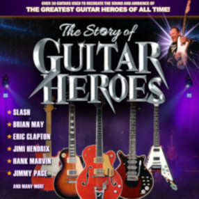 NEW DATE: Thursday 11 February 7.30pm 2021The Story of Guitar Heroes - If you like music and guitars you will LOVE this show!